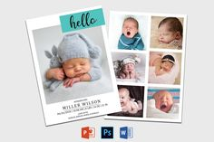 Birth Announcement Template | Newborn Announcement template | Birth announcement card | Birth announcement printable | Baby Announcement Recipe Book Templates, Cookbook Template, Card Templates Printable, Program Template, Twin Birth Announcements, Birth Announcement Template, Birth Announcement Girl, Announcement Cards, Youth Group Activities