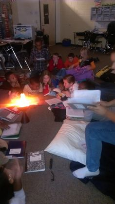 do a campfire reading day! (or share writing around a campfire - either way it'll be a hit!)