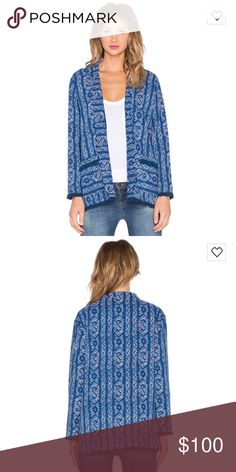 Velvet by graham and Spencer Anya boho jacket NWT Super chic open front Cardigan. Linen like material xs but fits small also. Revolve Clothing Velvet Tops Tunics