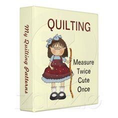 Measure Twice Quilting Binder