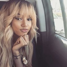 Fanpage For Karrueche Tran — Karrueche came through with the blonde