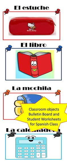spanish classroom labels labels for classroom objects  spanish classroom objects presentation word wall student activities bundle