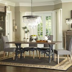 The French Vintage Dining Table is nothing short of a work of art. Ornamental metalworks and the recycled industrial parts bring each table to life, creating a visually stunning dining setting that wi