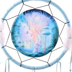 Decorative Fantasy Fairy Design Dreamcatcher Dreamcatchers are a great way to add colour and design to your home or workplace Made from a Nature Spirits, Fairy Figurines, Dreamcatchers, Workplace, Fairies, Nativity, Native American, Fantasy, Colour