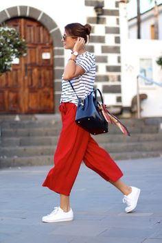 Culottes and Sneakers