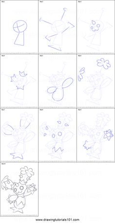 How to Draw Maractus from Pokemon printable step by step drawing sheet : DrawingTutorials101.com