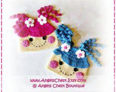 Cute PENGUIN Crochet Hat Earflap Pattern Size by AngelsChest Gorro Largo 831bde96791