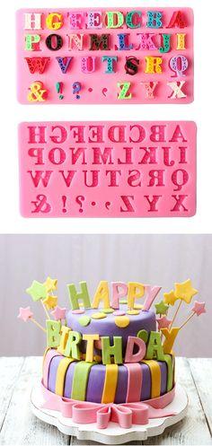 US$5.59 15*8cm Silicone Capital Cake Mold Fondant Cake Decorating Tools Chocolate Mold Confectionery