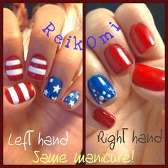 reikomi's 4th of July nail inspo. Tag yours with #SephoraNailspotting for the chance to be featured! #Sephora #nails #nailpolish