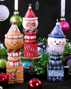 Design Inspiration: Viking Woodcrafts: I Love Ornaments by Chris Haughey -So incredibly cute!