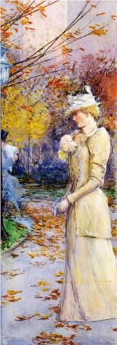 Indian Summer in Madison Square - Childe Hassam