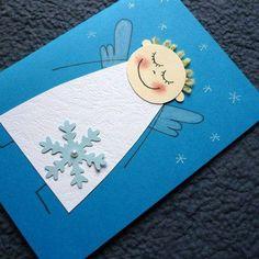 Také v obchode nekúpite: DIY najkrajšie vianočné pohľadnice do 30 minút Diy Christmas Cards, Christmas Crafts For Kids, Christmas Activities, Christmas Angels, Kids Christmas, Holiday Crafts, Christmas Decorations, Angel Crafts, Diy For Kids