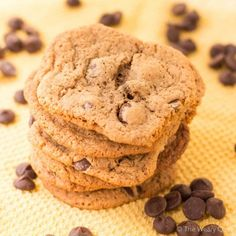 Adding hot chocolate mix to your chocolate chip cookies adds such a nice flavor!