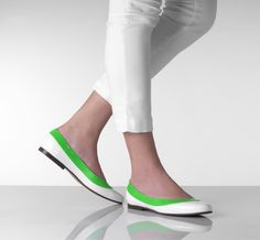 Green and white #flats by @begumshoes