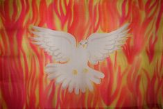 Holy Spirit Fire Hand Painted Silk Worship Flag For Praise Worship or Dance Praise Dance, Praise And Worship, Worship Dance, Prophetic Art, Color Balance, Light Of The World, Hand Painted, Painted Silk, Verse