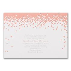 Renewing your vows? Consider this vow renewal invitation your confetti toss, with its foil accents and dots in your choice of color. Vow Renewal Invitations, Discount Wedding Invitations, Anniversary Invitations, Bridal Shower Invitations, Wedding Vows, Wedding Programs, Save The Date Cards, Confetti, Bird Art