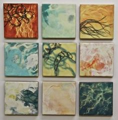 """Jo Campbell, """"Nothing Solid Here"""", Encaustic on panel."""
