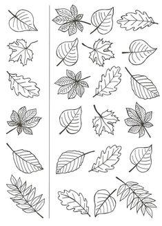 Feuille auto me Autumn Crafts, Autumn Art, Thanksgiving Crafts, Autumn Leaves, Art For Kids, Crafts For Kids, Leaf Template, Halloween Drawings, Flower Doodles