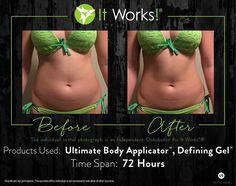 The Wraps Do work!  Www.jennieperez007.itworks.com