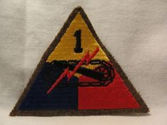 WW2 WWII US Army 1st Armored Division Patch Italian Campaign Anzio | eBay