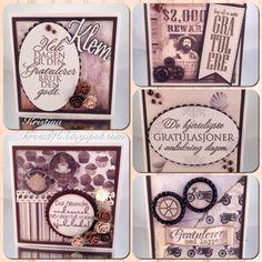 Kristinas kortblogg: Småkort av restepapir, del 1: Brun