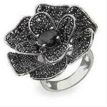 Jetset Sterling Silver Black Rose Pave CZ Cocktail Ring Size 8 (Sizes 5 6 7 8 9 Available) Weird Jewelry, Gems Jewelry, I Love Jewelry, Jewelry Art, Jewellery, Fashion Accessories, Fashion Jewelry, Cocktail Rings, Rose Cocktail