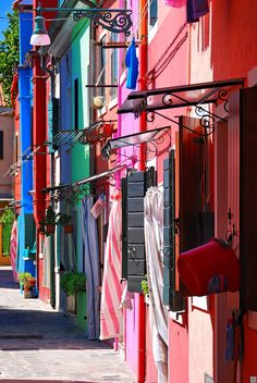 Colorful Houses, Burano Island, Venice, Italy