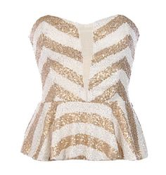 Chevron Shimmer Top WANT