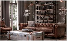 Overall style of this room from Restoration hardware...