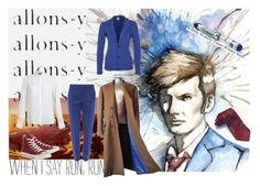 """""""10th Doctor's Blue Suit"""" by first-class-whovian ❤ liked on Polyvore featuring Vince, Gaudì, Paul Smith Black Label, Converse, women's clothing, women, female, woman, misses and juniors"""