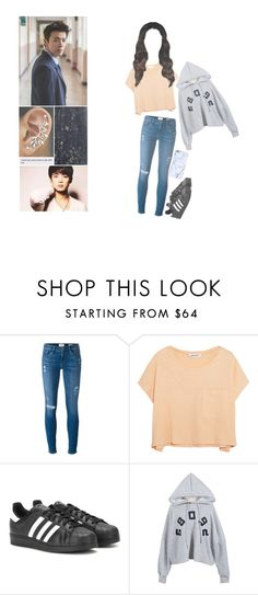 """Detention (DONGHAE SCENARIO)"" by imfromtheyear3000 ❤ liked on Polyvore featuring Frame Denim, Elizabeth and James, adidas and surrinasworks"