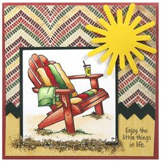 Relax and make this summery card using Single Adirondack.