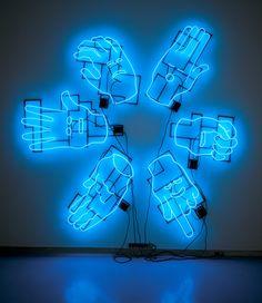 'Wheel of Desire' Neon Sculpture, 1997 by artist Ken Little