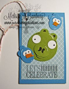 Angry Bird Bday Gift Tag