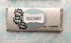 Hilda Designs: Tutorial Envolviendo Chocolates, sellos del set: Hoy y Siempre de Latina Crafter