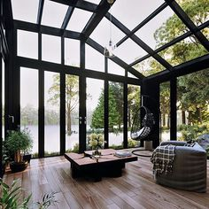 Dope or nope? The Relaxing Shed in the Woods is designed and visualized by Konstantinos Anninos from - Architecture and Home Decor - Bedroom - Bathroom - Kitchen And Living Room Interior Design Decorating Ideas - Interior Exterior, Exterior Design, Interior Architecture, Room Interior, Greece Architecture, Roof Design, Orangerie Extension, Design Living Room, Living Rooms