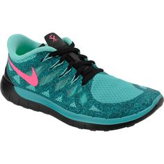 NIKE Women's Free 5.0 Running Shoes - Jade Glitter SportsAuthority.com