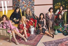 The lovely ladies of SNSD for W Korea's August issue!
