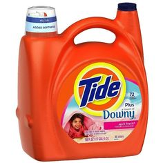 Tide liquid laundry detergent 150oz plus a Touch of Downy April Fresh ($18) ❤ liked on Polyvore featuring home, home improvement and cleaning