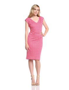 Laurèl Damen Column Kleid, Gepunktet: Amazon.de: Bekleidung