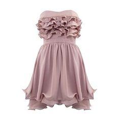 Rich in Ruffles ❤ liked on Polyvore featuring dresses, short dresses, vestidos, ruffle mini dress, galaxy dress, flounce dress, short polka dot dress and dot dress
