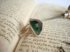Handmade silver ring with Tourmaline. by art1jewel on Etsy