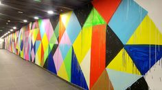 happycurio maya hayuk street art mur de couleurs parking LPA lyon