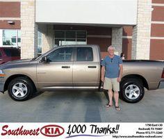 #HappyAnniversary to Keith Boone on your 2009 #Dodge Truck #Ram 1500 from Jonathan Elizondo at Southwest KIA Rockwall!