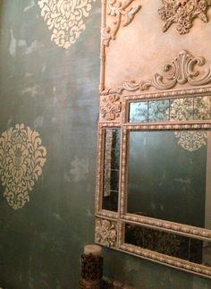 Powder Room Mirror #Mirror #PowderRoom #Inspiration