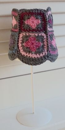 Crocheted lamp shade