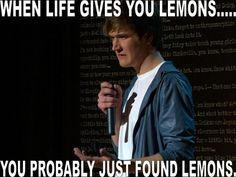 Bo Burnham. The one comedian who's special I literally can not understand. But he is still hilarious.