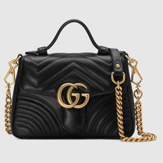 GG Marmont mini top handle bag in Black matelassé chevron leather with heart detail Gucci Purses, Gucci Handbags, Gucci Bags, Designer Handbags, Fendi, Double G, Dior, Gucci Store, Gucci Gifts