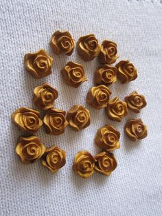 Polymer clay roses flower embellishments for decoration  and