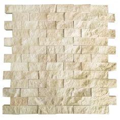 Bej 2.5X5 Fileli Patlatma Taş  www.tasdekorcum.com #dekor #patlatmatas #mozaik #dogaltas#naturalstonemosaic #naturalstone  Natural Stone Mosaic Natural Stone Wall Natural Stone Mosaic Subway Wall Tile Fileli Patlatma Taş Doğal Taş Patlatma Mozaik